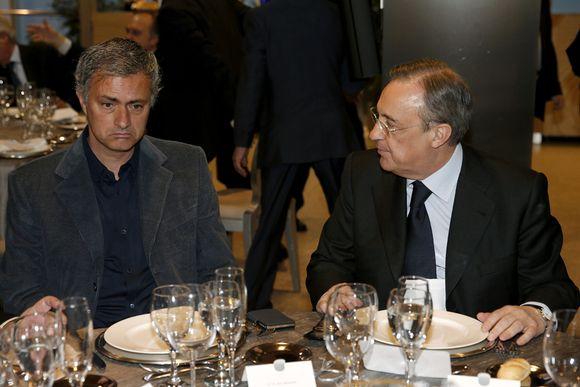 Jose+Mourinho+Florentino+Perez
